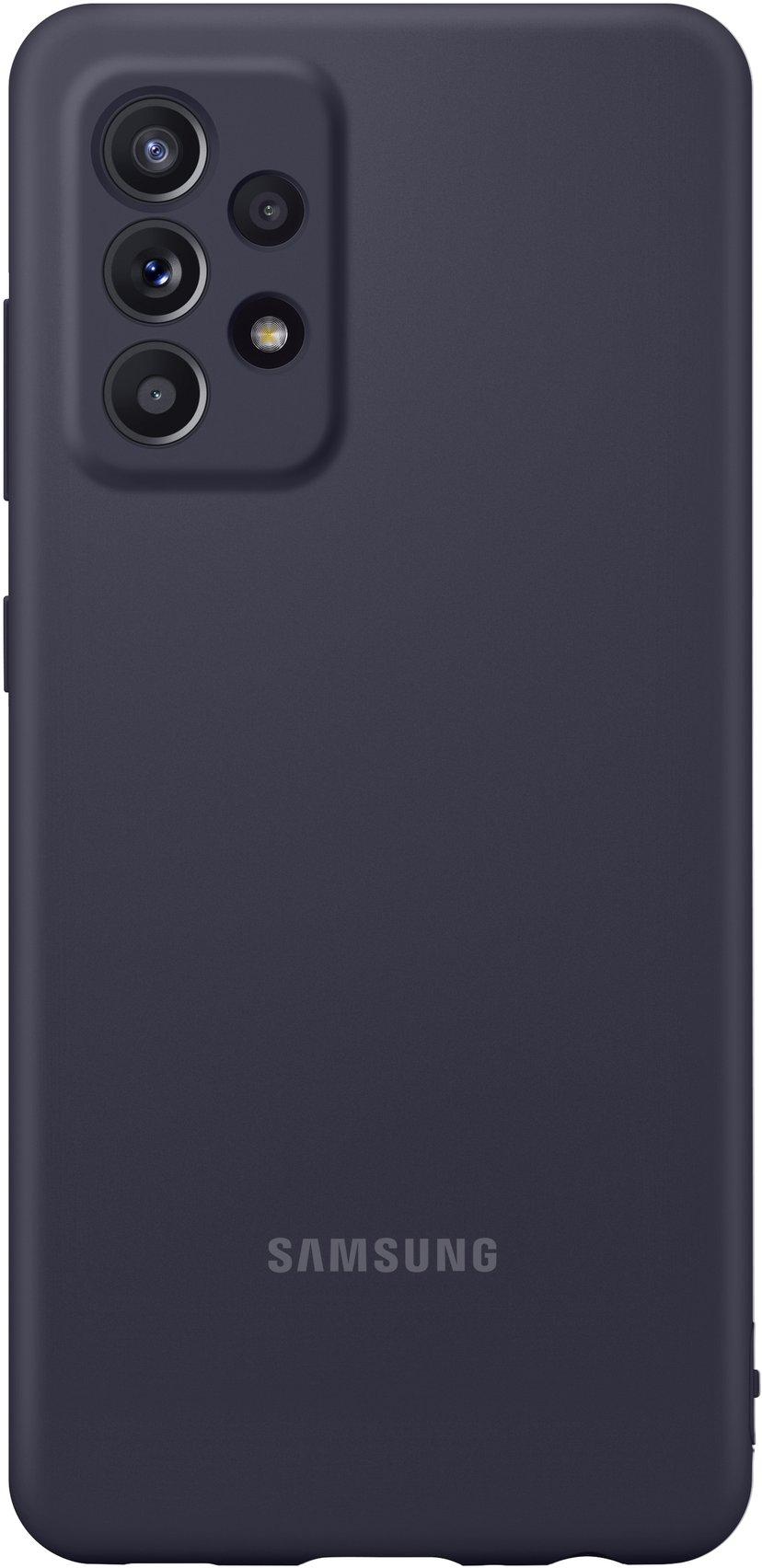 Samsung Silicone Cover Samsung Galaxy A52 Svart