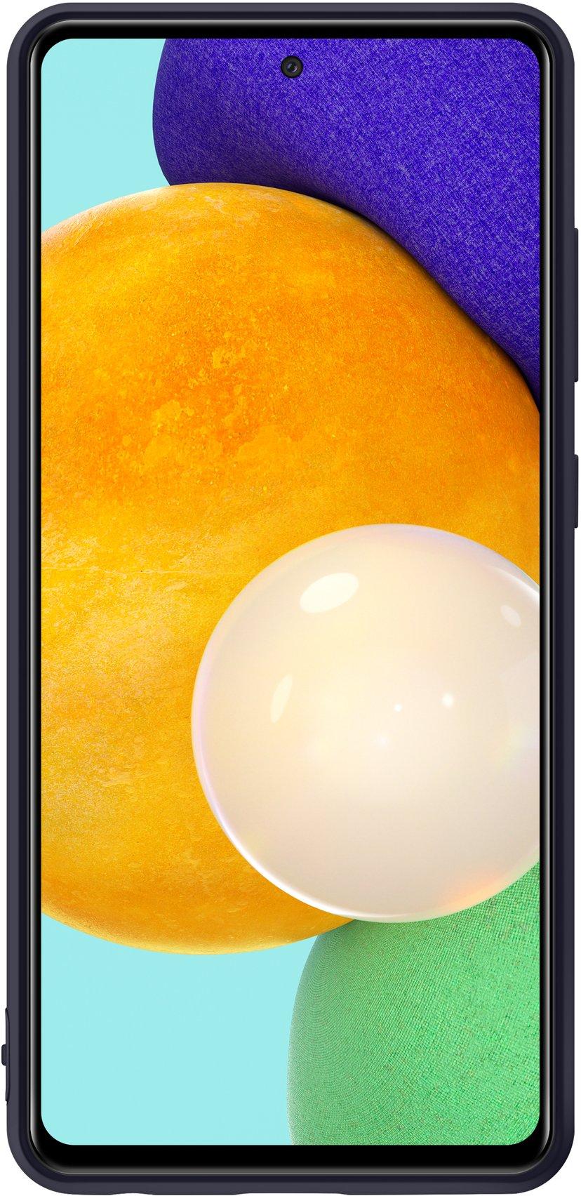 Samsung Silicone Cover Svart Samsung Galaxy A52, Samsung Galaxy A52s