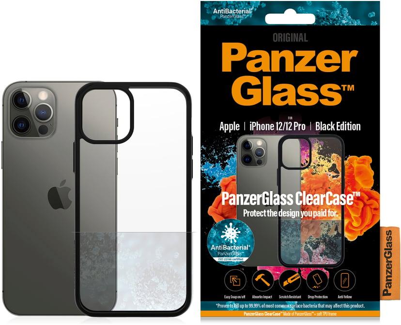 Panzerglass Clearcase BlackFrame iPhone 12, iPhone 12 Pro Klar, Svart