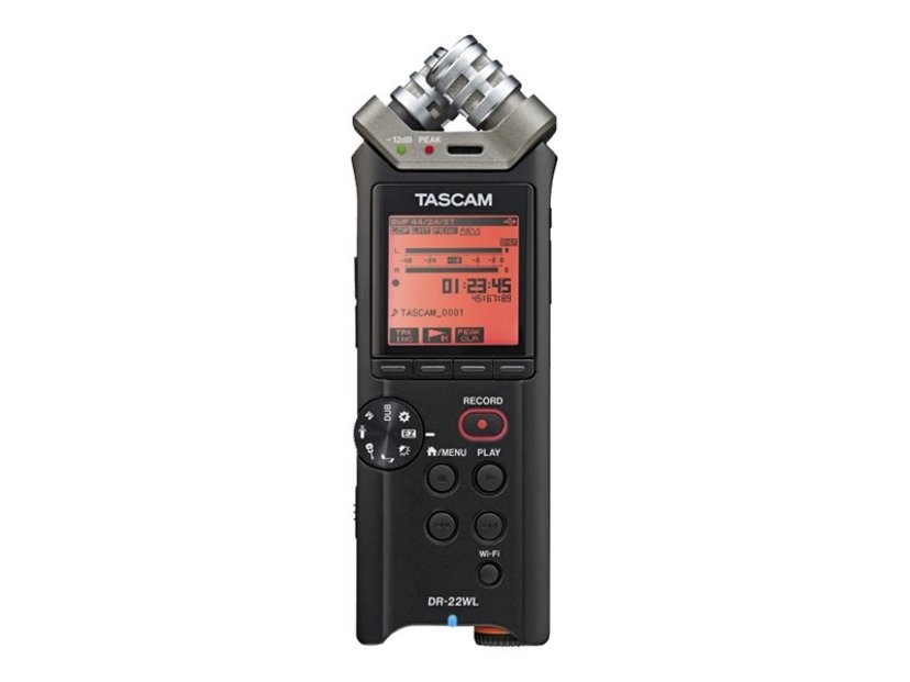 Tascam Handheld Recorder With Wi-FI Functionality