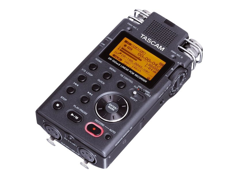 Tascam Professional Handheld Recorder With 4 Mics