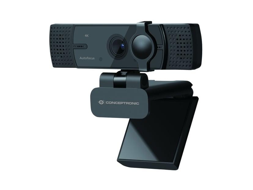 Conceptronic Amdis 4K Autofocus 3840 x 2160 Webbkamera Svart