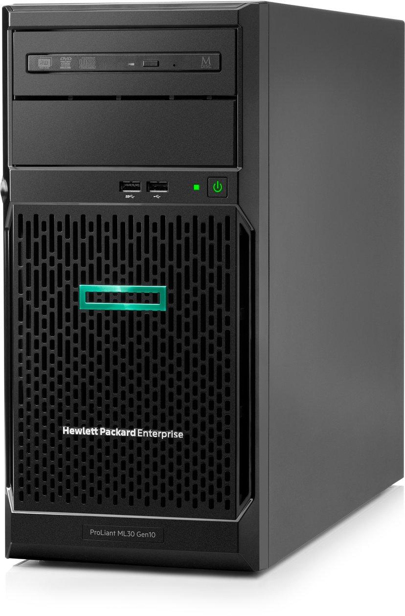 HPE ProLiant ML30 Gen10 – 2 x 240 Gt:n SSD, lisää RAM-muistia ja redundantti PSU Xeon E Quad-Core 32GB
