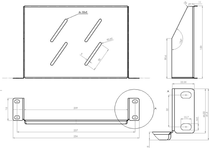 """Direktronik Rack shelf 10"""""""