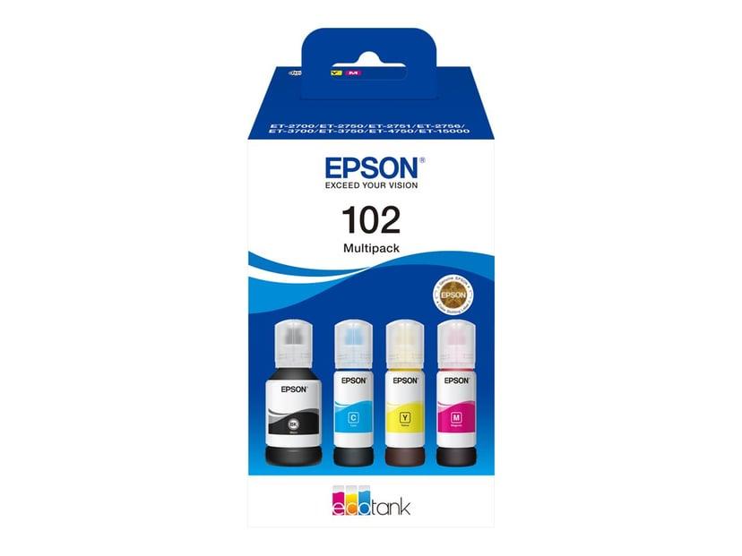 Epson Bläck Multipack (C/Y/M/BK) 102 - ET-15000