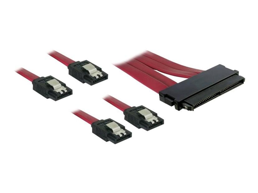 Delock SAS Multilane SFF8484 - 4Xsata 0.5m 0.5m 7 pin Serial ATA Hun 32-pin 4i MultiLane SAS (SFF-8484) Hun