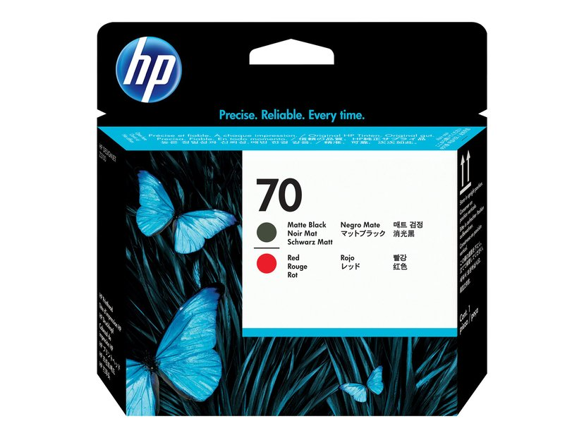 HP Printhead Rød - Sort Matt No.70