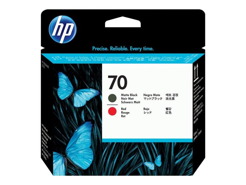 HP Printhead Rød - Svart Matt No.70
