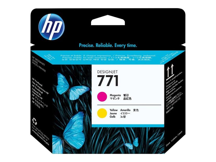 HP Skrivarhuvud 771 Magenta + Gul - DESIGNJET Z6200