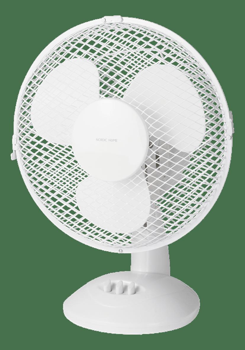 Nordic Home Bordventilator 230 mm 2 hastigheder Hvid