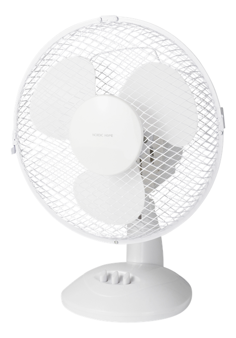 Nordic Home Table Fan 230Mm 2-Speed White