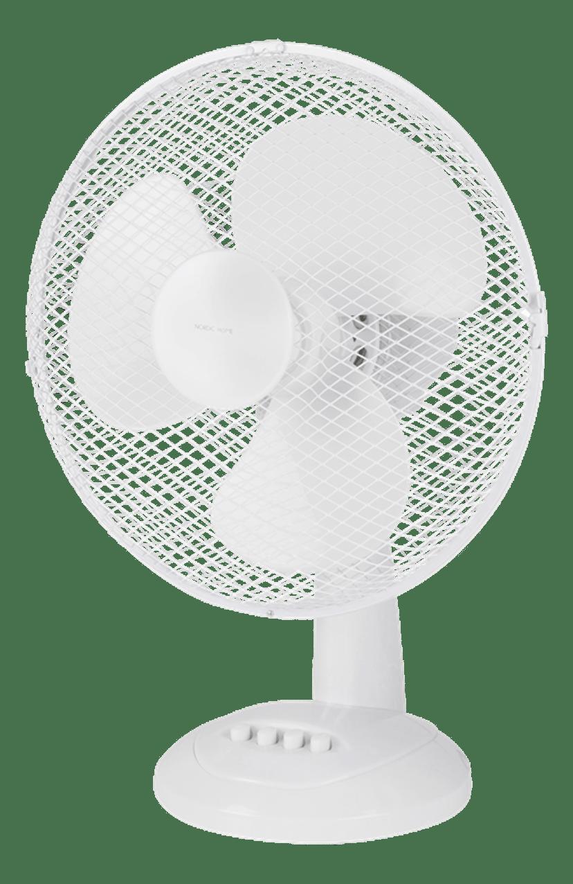 Nordic Home Bordventilator 310 mm 3 hastigheder Hvid