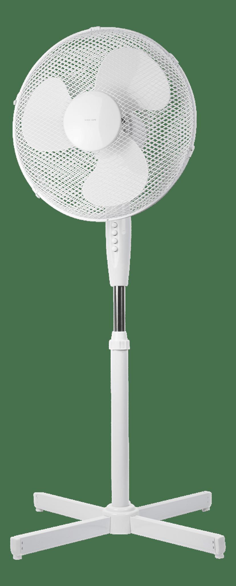 Nordic Home Floor Fan 410Mm 3-Speed White