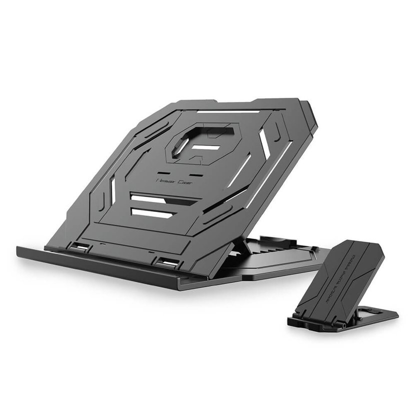 Desire2 2In1 Portable Laptop Stand Black W Mobile Stand