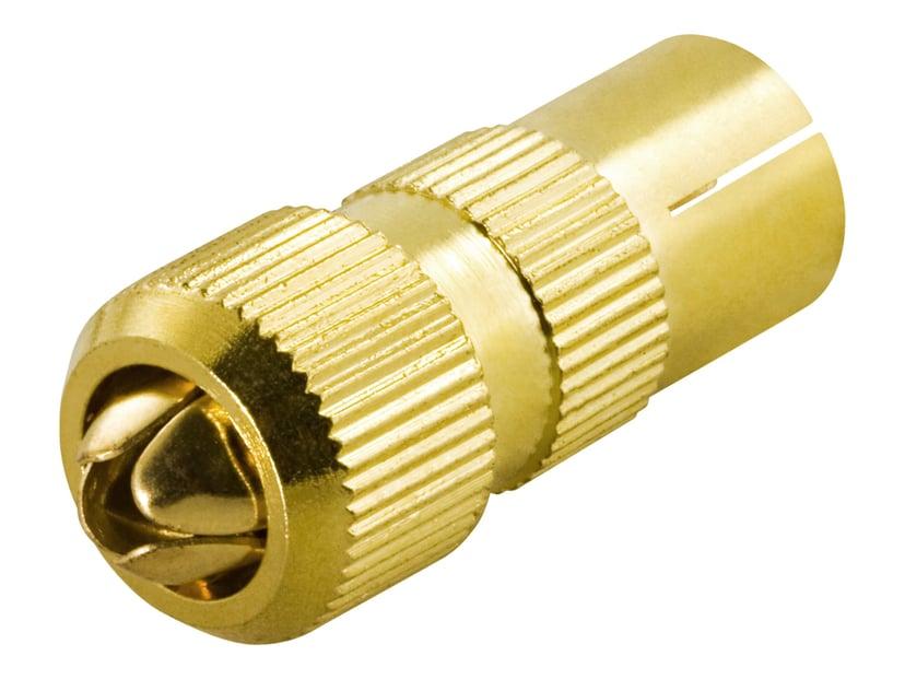 Deltaco Adapter IEC-forbindelse Hun