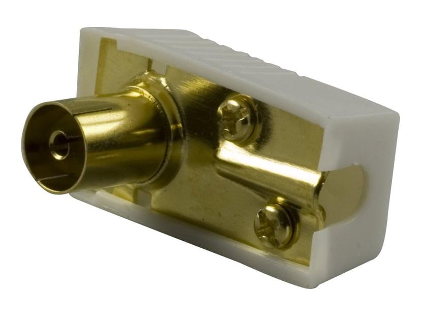 Deltaco Adapter IEC-kobling Hunn
