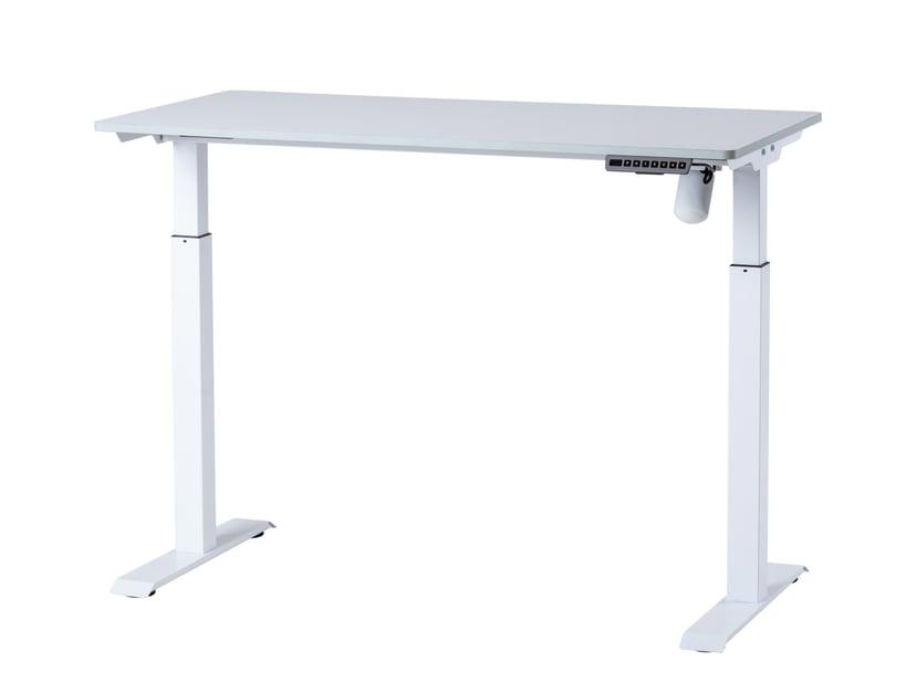 Sun-Flex Hæve-/sænkebord, 120x60 cm, Hvid