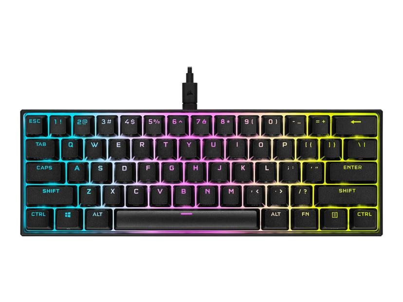 Corsair K65 RGB MINI 60% Mechanical Gaming Keyboard Kabling Tastatur Nordisk Sort