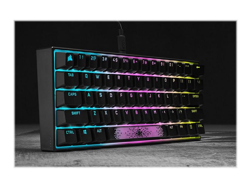Corsair K65 RGB MINI 60% Mechanical Gaming Keyboard Tangentbord Kabelansluten Nordisk Svart
