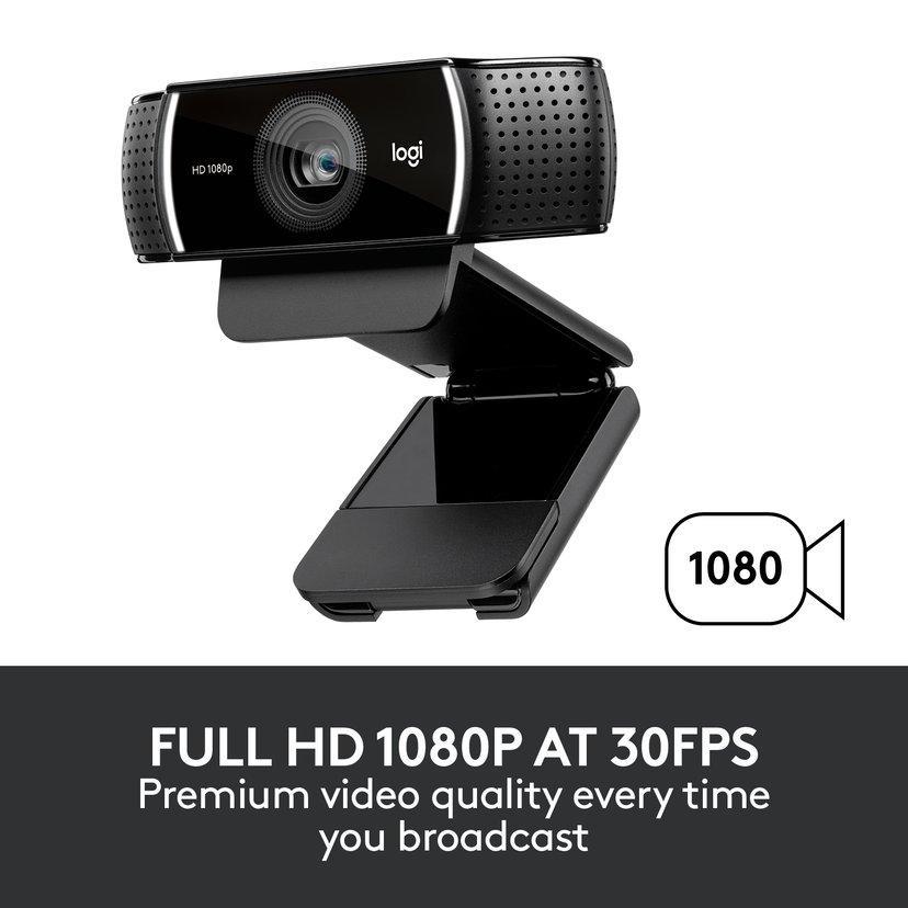 Logitech C922 HD Pro Stream Zwart Webcam