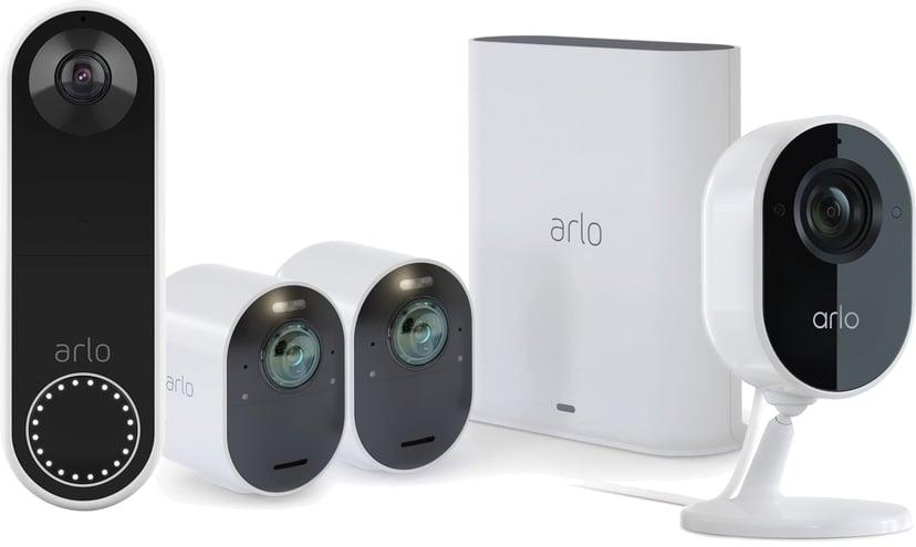 Arlo Ultra 2 2-pack + Video Doorbell + Indoor Camera
