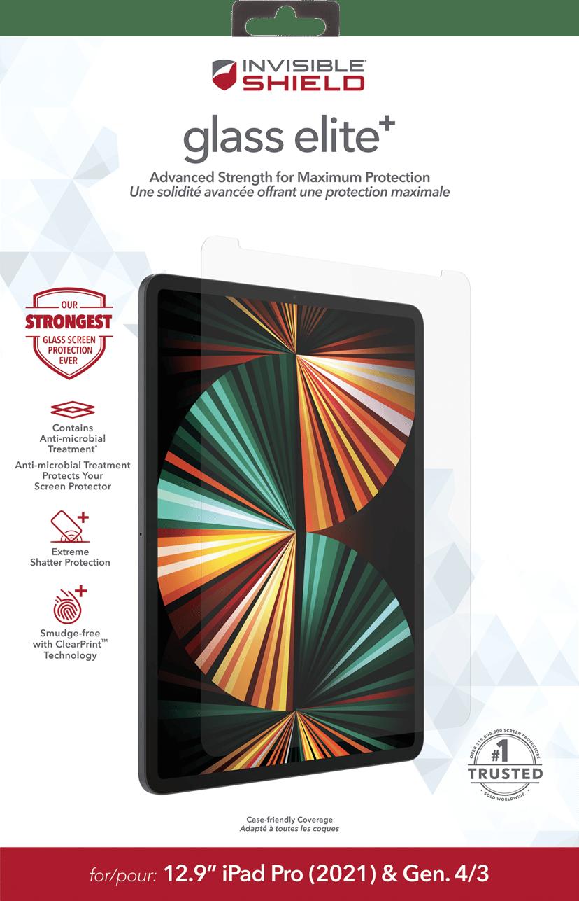 "Zagg InvisibleShield Glass Elite+ iPad Pro 12.9"" (4th gen), iPad Pro 12.9"" (5th gen)"