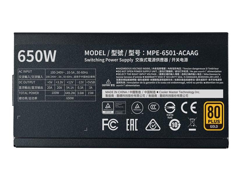 Cooler Master MWE Gold V2 650 650W 80 PLUS Gold