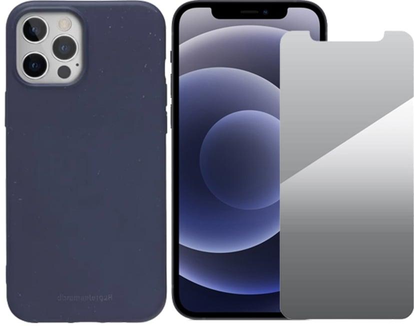 Apple iPhone 12 + cover + skærmbeskyttelse 128GB Sort