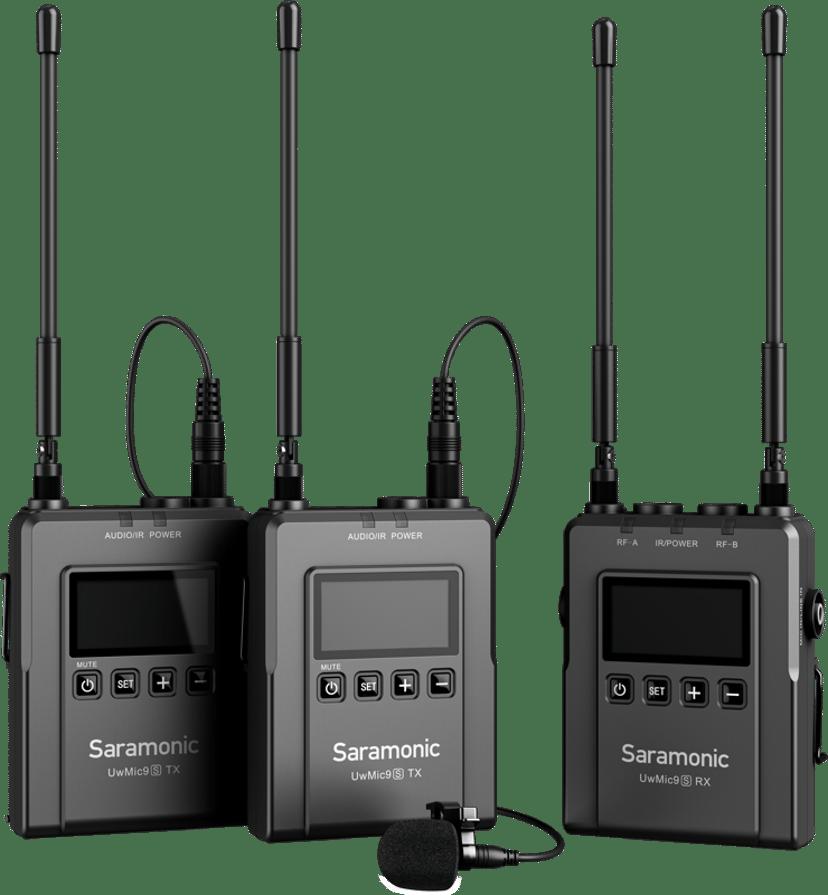 Saramonic UwMic9S Kit 2 (TX+TX+RX) Svart
