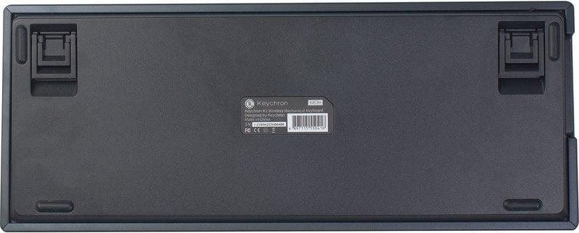 Keychron K2 RGB Aluminum Hot-Swap Brown (Version 2) Langallinen, Langaton Näppäimistö Pohjoismaat Harmaa, Musta