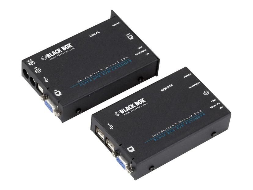 Black Box KVM Extender Over CATX - VGA Audio USB 1.1