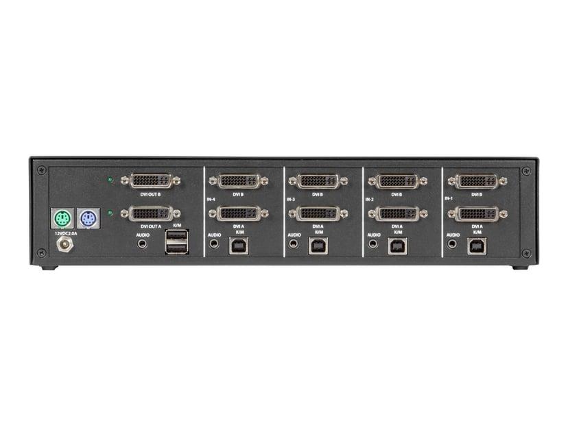 Black Box NIAP 3.0 Secure KVM Switch - 2X DVI-I USB 4-Port