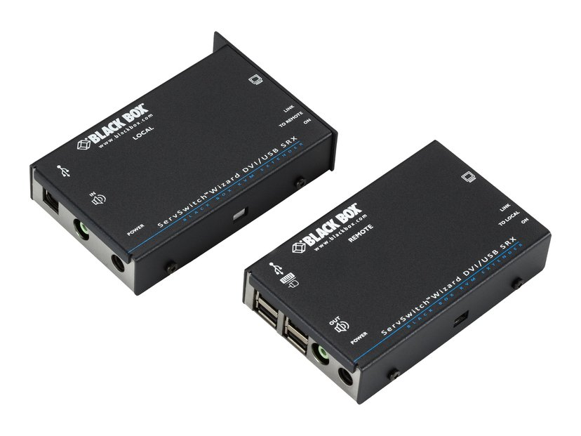 Black Box ServSwitch Wizard SRX DVI-D/USB Extender, Single-Head