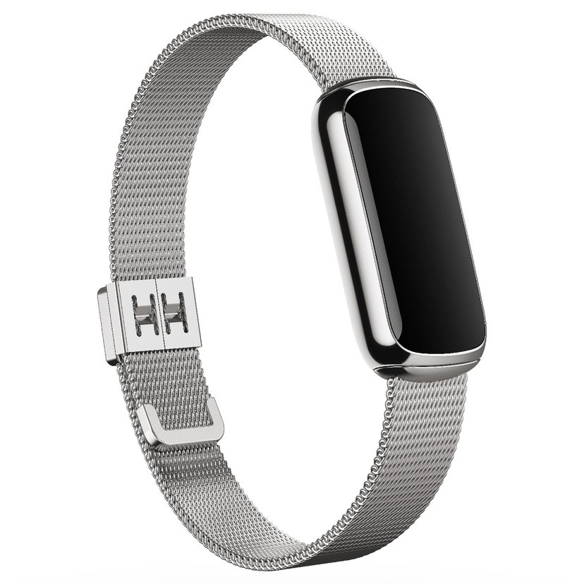 Fitbit Armband Metal Mesh Platinum (One size) - Luxe