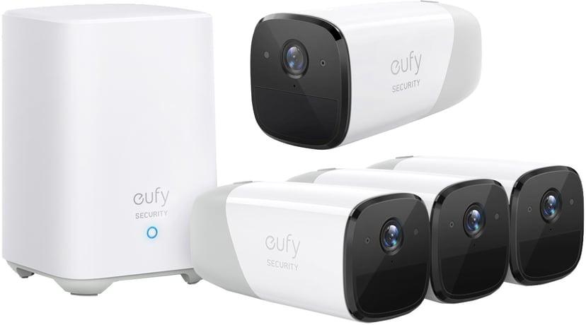 Anker Eufy eufyCam 2 Pro 3-Pack + Base Station + Extra 1080p (icke-Pro) Camera
