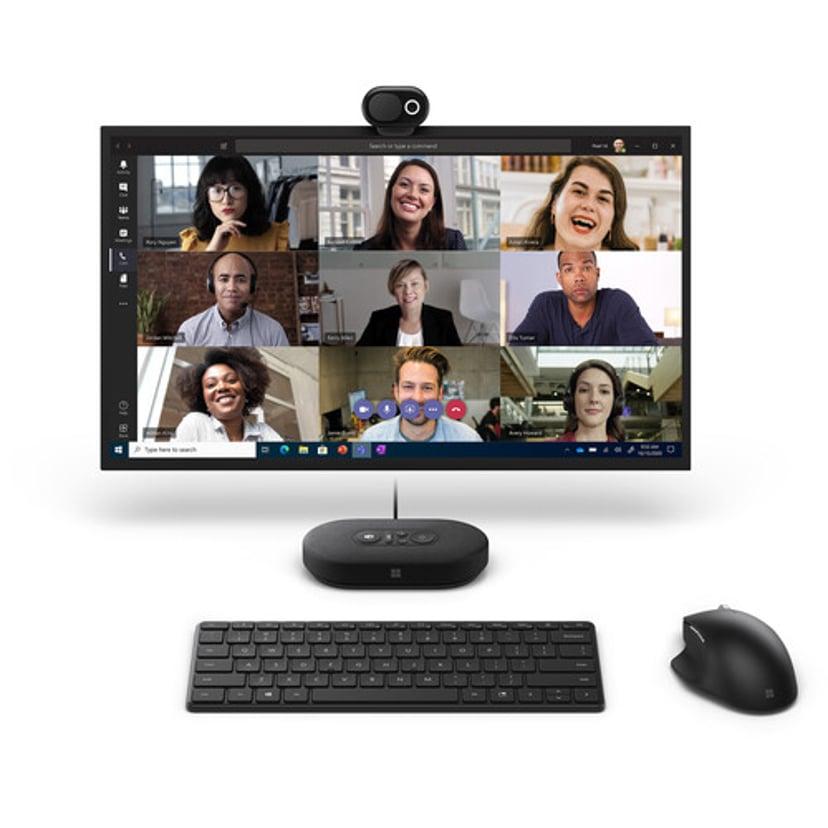 Microsoft Modern Webcam 1920 x 1080 Webbkamera Svart