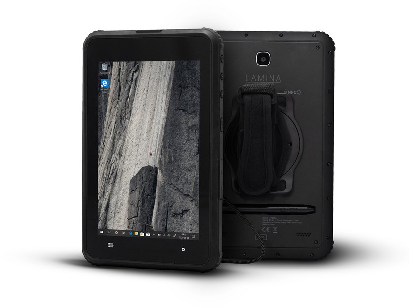 "Lamina ToughTab 8 Win10 Pro 4G + Barcode/NFC Scanner 8"" 64GB 4GB Musta"
