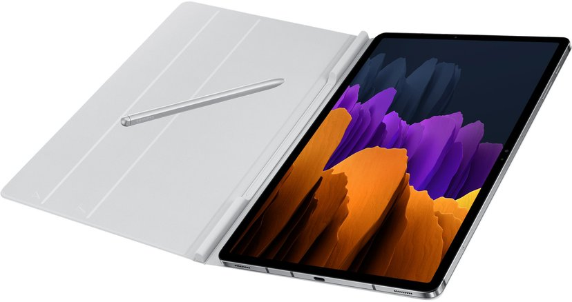 Samsung Book Cover EF-BT970 Samsung Galaxy TAB S7+, Samsung Galaxy Tab S7 FE Mystiskt silver