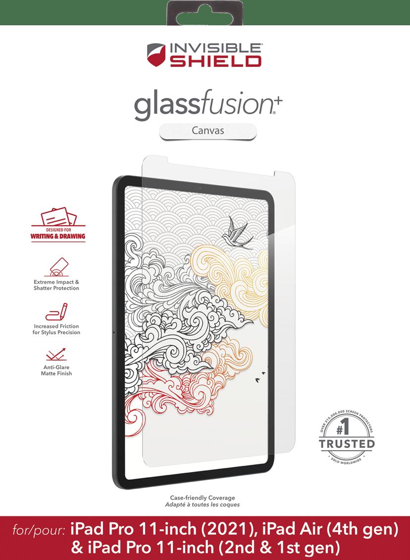 "Zagg Glassfusion+ Canvas iPad Air 10.9"", iPad Pro 11"" (1st gen), iPad Pro 11"" (2nd gen), iPad Pro 11"" (3rd gen)"