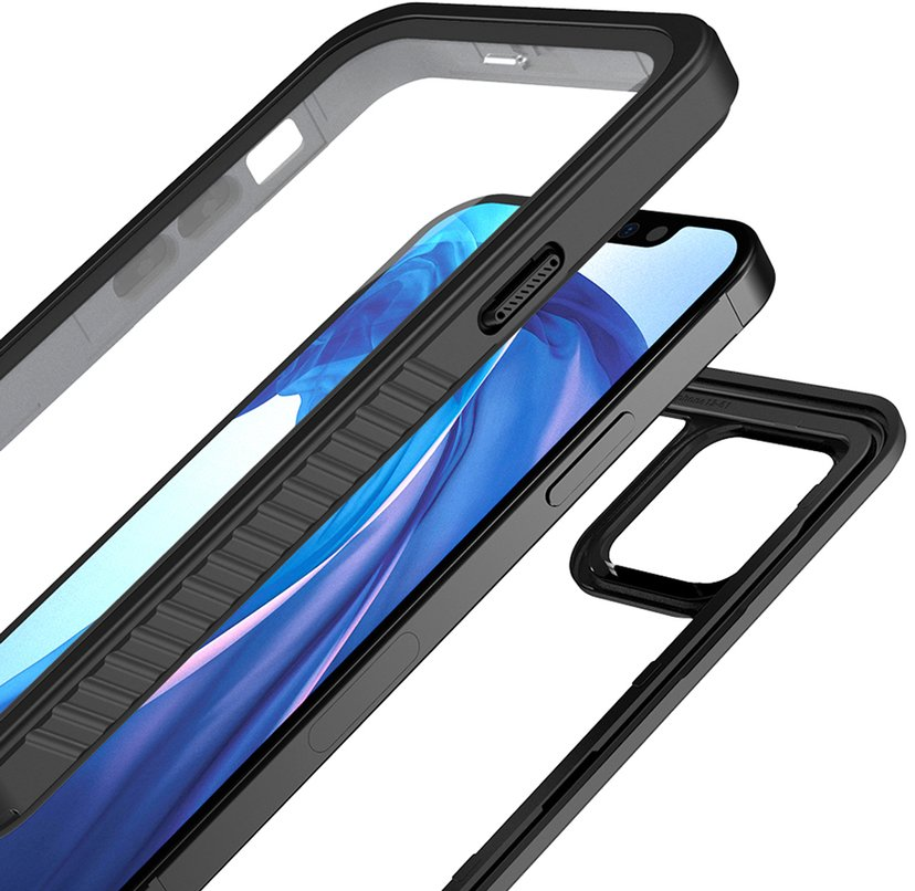 ARMOR-X Vattentätt Fodral Svart iPhone 12, iPhone 12 Pro