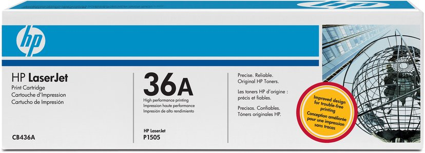 HP Toner Svart 36A 2K - CB436A