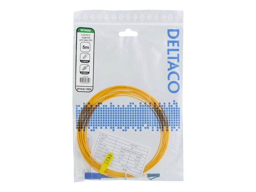 Deltaco - Nätverkskabel LC/UPC SC/UPC OS1/OS2 5m