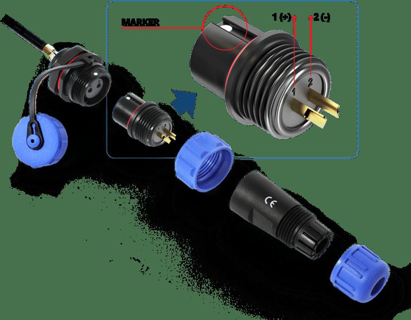 QuWireless Outdoor Power Socket & Plug 2-Pin
