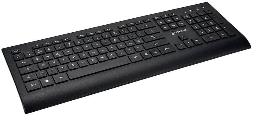 Voxicon Wireless Keyboard 602Wl Black Trådlös Tangentbord Nordiska länderna