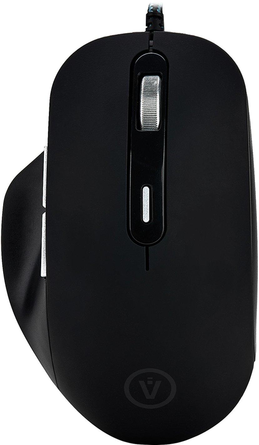 Voxicon Wired Mouse GR390 6,400dpi Mus Kabelansluten Svart
