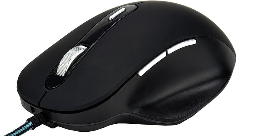 Voxicon Wired Mouse GR390 Svart Mus Kabelansluten 6,400dpi