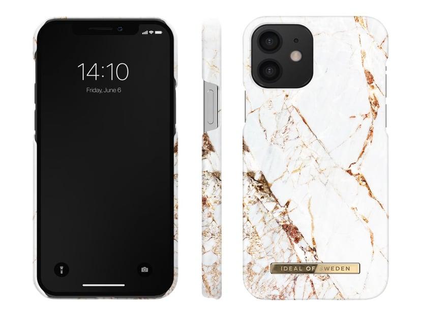 iDeal of Sweden Fashion Case iPhone 12, iPhone 12 Pro Guld, Präglad, guldtonad logotyp