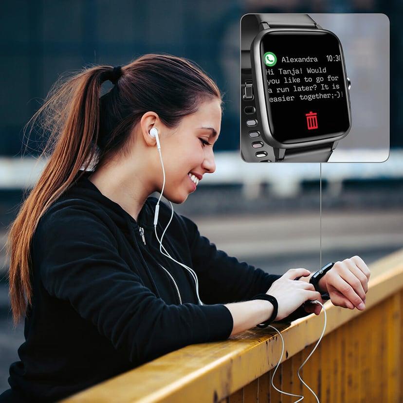 Hama Fit Watch 5910 Svart Svart Aktivitetspårare