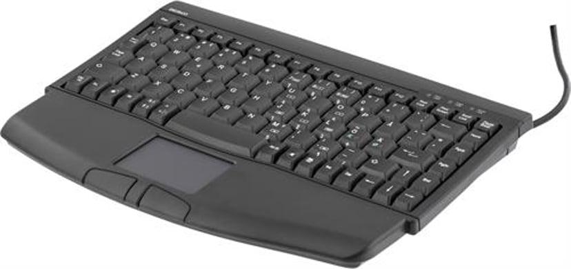 Deltaco TB-5DSU Kabling Tastatur Nordisk Nordisk Sort