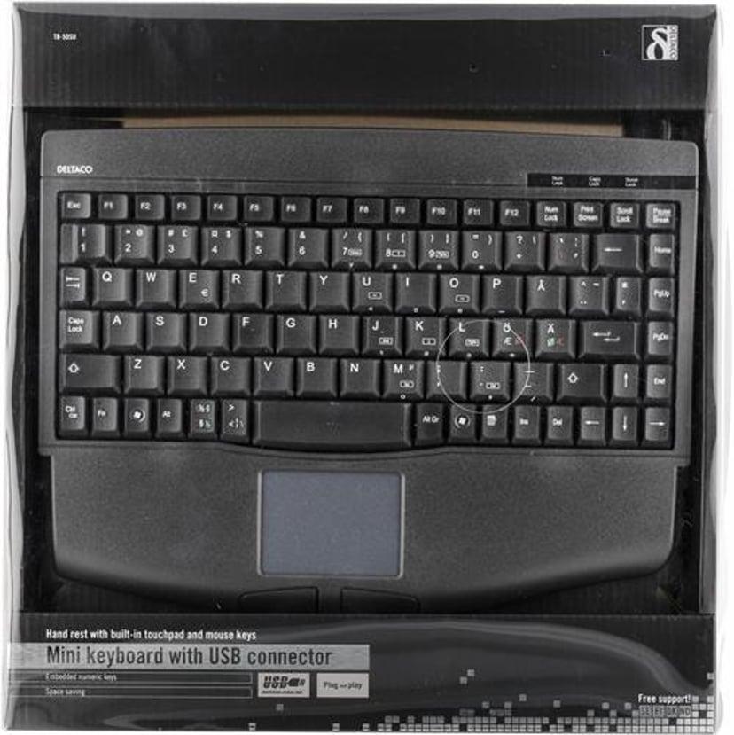 Deltaco TB-5DSU Kablet Tastatur Nordisk Nordisk Svart